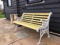 Vintage 1.35m garden bench