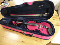 child's 1/4 size violin outfit (pink)