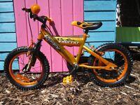"Huffy Children's Kids Boys Bike - Orange/Gold & Flames - 14"" Wheels - Brand New"