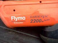 FLYMO GARDEN VAV / SHREADER WITH NEW PACK OF BLADES.