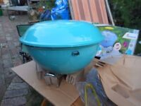 Lovely painted blue kettle barbeque BBQ