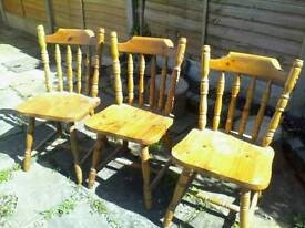 CHAIRS - pine chairs for refurb