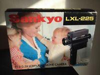 Vintage retro handheld home movie camera