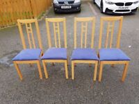 4 Ikea Aaron Chairs Blue Seats FREE DELIVERY 345