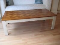 Lovely Vintage Coffee Table with Oak Parquet Inlaid Top - Excellent condition