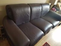 PLUM LEATHER SOFA - IKEA - £1200 original price - COLLECTION ONLY