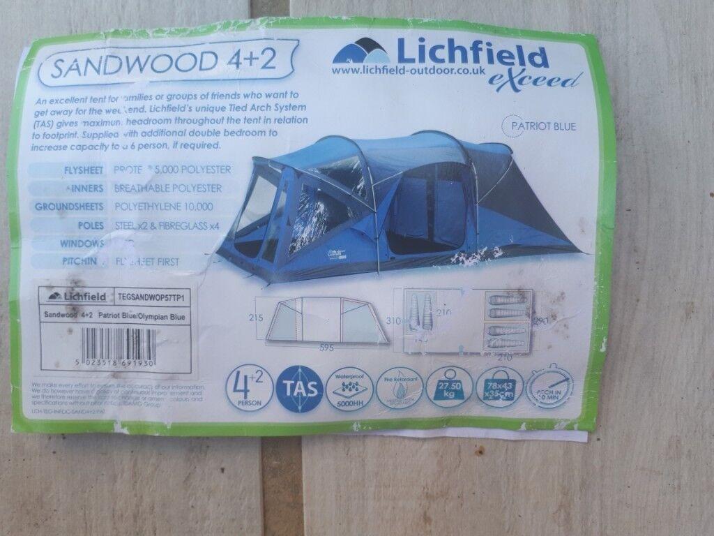 Lichfield Sandwood 4+2 Fibreglass Tent Pole Repair Pack Camping Kit