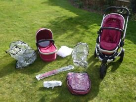 iCandy Peach Jogger Buggy, Carrycot and accessories