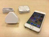 Gold iPhone 5s 16GB On Vodafone / Lebara Networks Mobile Phone + Case +Warranty