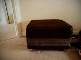 3seater sofa with footstool