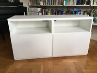 Besta TV bench with cupboards