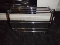 chrome towel or clothes rail