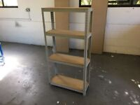 GREY RACKING WAREHOUSE WORKSHOP SHOP GARAGE SHED BAY SHELVING UNIT