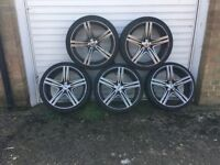 5 Alloy Wheels and tyres with good tread buyer must collect