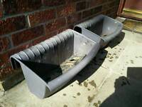 Two Balcony Plastic Plant Troughs