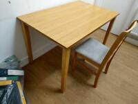 Lovely dining table with 3 chairs on clearance at just £45 only