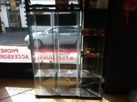 3 Good Quality Glass Display Cabinets For Sale