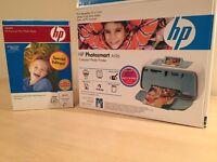 HP Photo Smart Compact Photo Printer, Paper and Toner Colour Cartridge