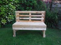 Rustic Garden Bench from recycled pallet wood