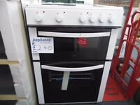 EX-DISPLAY WHITE LOGIK 60 CM WIDE FREESTANDING COOKER REF: 31120
