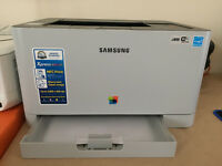 samsung colour laser printer - mint condition - urgent sale