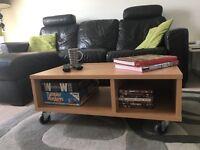 Light beech wood effect TV/coffee table