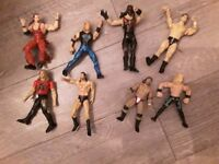 8x wrestling figures budle