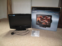 TV 19in. with built in DVD player