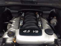 Porsche Cayenne S 4.5l V8 340BHP Bi-Fuel Petrol+LPG Sat Nav Air-Suspension Black Leather Tinted