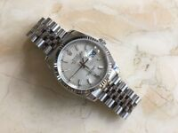 ROLEX DATEJUST 116234 STAINLESS STEEL/18CT WHITE GOLD WITH SILVER DIAL 2014 MODEL MENS GENUINE WATCH