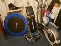 Cross Trainer/ Ab master Pro/Mini Trampoline