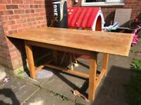 Large Solid Wood Dining Table - Delivery Available