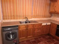 Solid Pine Wood Kitchen with Integrated Appliances for Sale