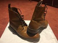 Brogue boots Tan leather men's size 8