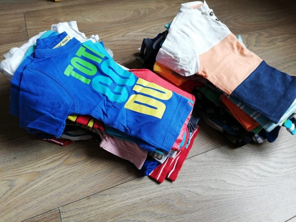 1285c1285d6 Large boys clothes bundle 18-24 months - 120+ items