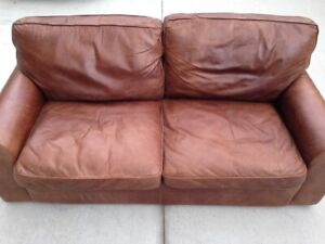 Clear by Friday-Oversized, 2 person leather couch