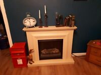 Electric fire and fireplace