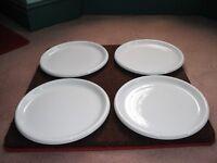4 IKEA Rondo white dinner plates