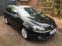 2010 VW VOLKSWAGEN GOLF 1.6 TDI BLUEMOTION TECH SPORTLINE 5DR ESTATE BLACK