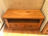 Mexican pine tv unit