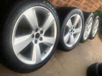 """As New 18"""" Ford Galaxy SMax alloy wheels +Michelin tyres 5x108 Volvo XC60 CAN POST"""