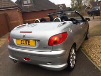 2004 PEUGEOT 206 1.6 COUPE CABRIOLET QUIKSILVER EDITION. LOW MILES! ONLY 55K NEW SERVICE AND MOT!