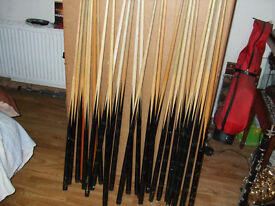 £1 Bargain £1 each to Clear pool snooker billiard cue game club pub camping fair event competition