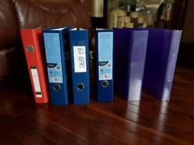 6 x Ring Binders/folders A4 Large Matt 75mm Lever Arch Files Folders