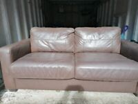 Used brown 3 seater sofa bed