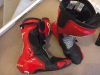 Alpine stars SVX motorbike/motorcycle boots