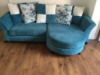 DFS sofa , cuddle couch and pouffe