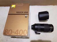 Nikon AF-S Lens 80-400mm f/4.5-5.6 G ED VR Great condition