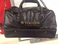 Leather footjoy travel bag