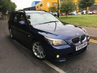 BMW 525D M SPORT 3.0 ESTATE 2008 (58) FACELIFT FULL BMW HISTORY SAT NAV CREAM...